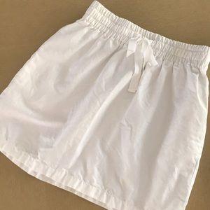 White J. Crew skirt